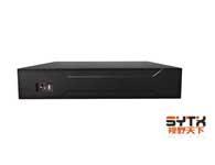 视野天下 SYTX-1016NVR-9 1)视频通道:16路720P/9路1080P IPC输入,支持Onvif;2)音频通道:1路RCA对讲,1路RCA音频输出;3)支持的录像分辨率:16路720P/9路1080P;4)回放通道数:4路回放;5)支持SATA硬盘数量:2;6)标配:鼠标、USB×3、网络、VGA、HDMI接口;7)尺寸/重量:350mm*220mm*