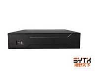 视野天下 SYTX-1008NVR 1)视频通道:8路1080P或者8路720P  IPC输入,支持Onvif;2)音频通道:1路RCA对讲,1路RCA音频输出;3)支持的录像分辨率:8路1080P或者8路720P;4)回放通道数:8路1080P模式1路回放,8路720P模式       回放通道数:4路回放;5)支持SATA硬盘数量:1;6)标配:鼠标、USB×3、网络、