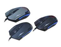 火力王Q1  4D酷炫蓝光游戏鼠标DPI 1000-1600-2400三档变速 带配重块设计专业游戏拉丝线