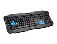 火力王HK-97有线游戏键盘  游戏键盘,8个多媒体按键8个蓝色游戏按键,中键帽设计,镭雕字符,中端游戏键盘