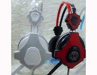 网鸣8100A耳机头戴式抗暴力耐用软皮套2.5米线长