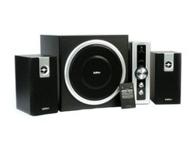 漫步者C2   音箱类型:电脑音箱 音箱系统:2.1+1声道 额定功率:30W 扬声器单元:6.5英寸+2x3英寸 调节方式:旋纽,遥控