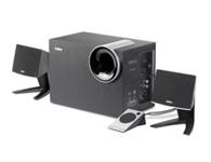 漫步者R201T北美版   音箱类型:电脑音箱 音箱系统:2.1声道 扬声器单元:5英寸+2x2.75英寸 调节方式:旋纽 有源无源:有源