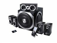 漫步者S5.1  音箱类型:电脑音箱 音箱系统:5.1声道 额定功率:280W 扬声器单元:10英寸+2x3.5英寸 调节方式:遥控