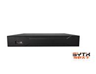 视野天下SYTX-1016NVR-41)视频通道:16路720P/9路1080P IPC输入,支持Onvif;2)音频通道:1路RCA对讲,1路RCA音频输出;3)支持的录像分辨率:16路720P/9路1080P;4)回放通道数:4路回放;5)支持SATA硬盘数量:4;6)标配:鼠标、USB×3、网络、VGA、HDMI接口;7)尺寸/重量:350mm×240mm×70m
