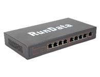 8口POE交换机PS1081    网络接口:10/100Mbps 自动上连带 PoE 功能的 RJ45 端口(8口PoE)  10/100Mbps 自动上连的 RJ45 端口(端口9)  传输速度:100Mbps 全双工,10 or 100Mbps 半双工  带宽:1.6Gbps (无阻塞)  网络延迟(100 to 100M bps):最大20 微秒(使用64字节包大小)  包缓冲区内存:96KB  地址数据库大小:1,024个 MAC 地址  帧过滤速率:10M 端口最大14,800帧/秒/100M