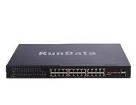24口POE交换机PS1024G    网络接口:10/100M/1000Mbps自动上连带PoE功能的RJ45端口(端口1~端口24) SFP千兆光口(端口25~端口26)  传输速度:100/1000Mbps全双工,  板带宽:48Gbps (无阻塞)  网络延迟(100 to 1000M bps):最大20微秒(使用64字节包大小)  网络延迟(1000 to 1000M bps):最大10微秒(使用64字节包大小)  MAC地址容量:8K   PoE总功率:360W(所有PoE端口,端口1~端口24)