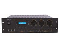 DJ-3000 输出功率(模式1):350W×2+350W×2 输出功率(模式2): 600W+600W 输出功率(模式3):350W×2+900W(S.WOOF) 总谐波失真: <0.015\%@1KHz 变调控制: 9级 音频输入: 3路自动选讯(2路可调) 视频输入: 3路 音频输出:2路 视频输出:1路 喇叭端子: 2组 遥控: 有 毛重量:20KG 尺寸(宽×高×