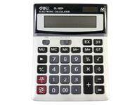 得力计算器 1654财务使用太阳能大按键计算机 计算器 大按键设计 4舍5入功能大按键 语音型