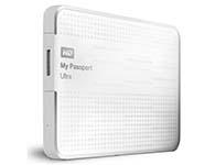西部数据(WD) My Passport Ultra USB3.0 1TB 超便携移动硬盘 白色 WDBZFP0010BWT-PESN