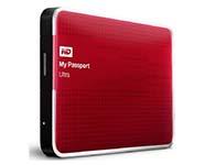 西部数据(WD) My Passport Ultra USB3.0 1TB 超便携移动硬盘 (红色)WDBZFP0010BRD