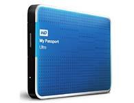 西部数据(WD) My Passport Ultra USB3.0 1TB 超便携移动硬盘 (蓝色)WDBZFP0010BBL