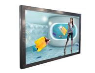 壁挂65寸触摸一体机,32-84寸触摸一体机触摸屏:可选用红外式触摸屏  显示器:液晶显示器。超薄、环保低碳。