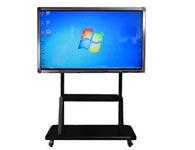 触控教学一体机(可移动支架)触摸一体机触摸屏:可选用红外式触摸屏  显示器:液晶显示器。超薄、环保低碳。