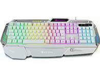 雷捷K20彩虹中板字符发光◆双色注塑键帽,机械式手感。19键不冲突◆七色彩虹中板字符发光+键盘三档加速.